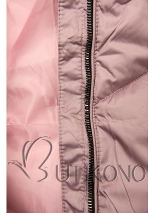 Prošívaná zimní bunda lila