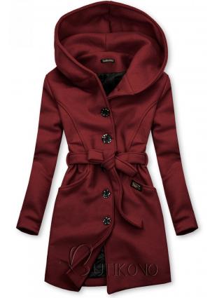 Skořicový kabát s kapucí