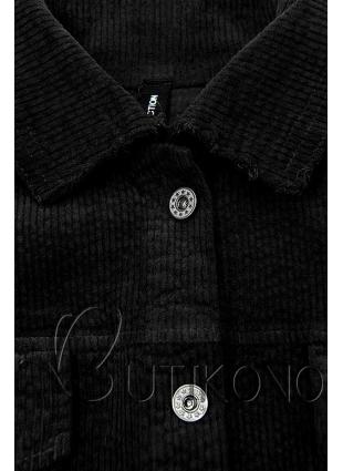 Černá manšestrová vrchní košile