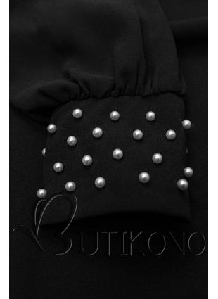 Černé elegantní šaty v A-střihu