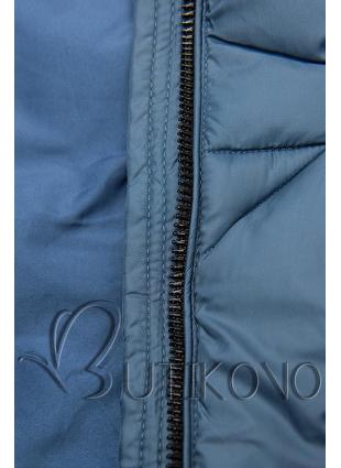 Jeans modrá prošívaná bunda na podzim/zimu