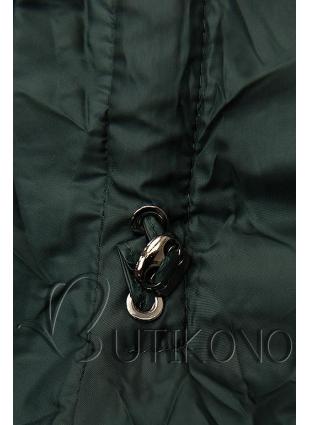 Tmavě zelená prošívaná bunda na podzim/zimu