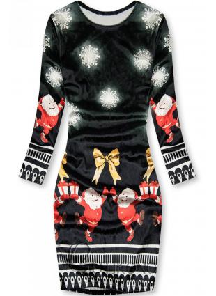 Černé šaty Santa