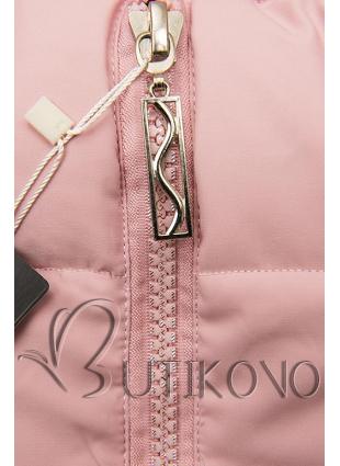 Zimní prošívaná bunda růžová