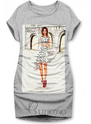 Šedé šaty Urban Couture