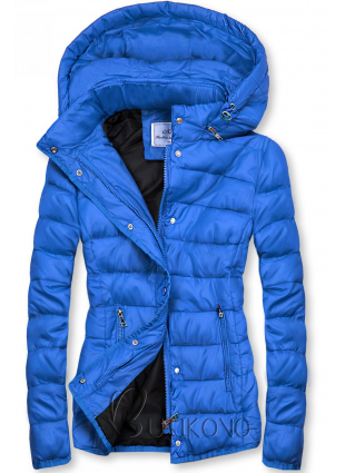 Kobaltově modrá prošívaná bunda na přechodné období