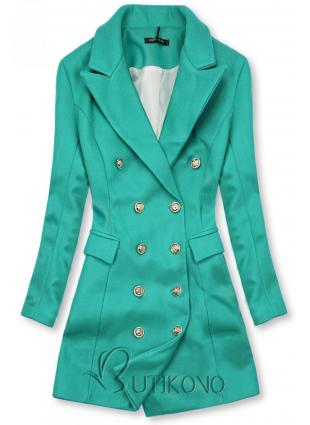 Elegantní podzimní kabát zelený