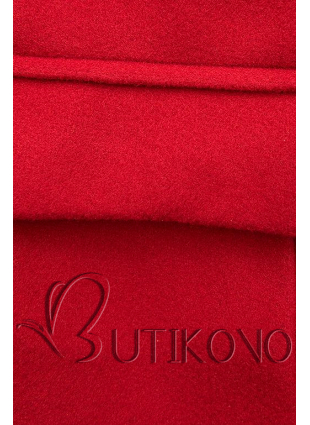 Elegantní podzimní kabát červený