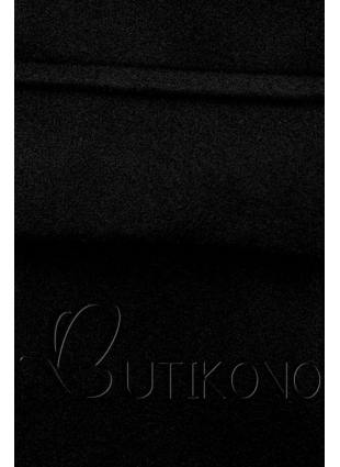 Elegantní podzimní kabát černý