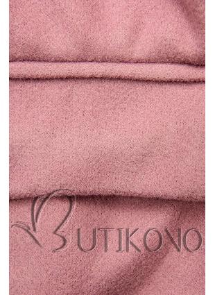 Elegantní podzimní kabát růžový