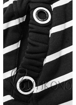 Pruhovaná mikina černá