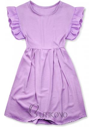 Fialové letní šaty z viskózy