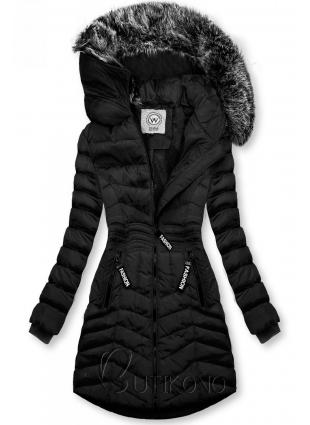 Černá zimní bunda FASHION