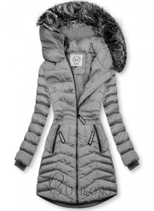 Šedá zimní bunda FASHION