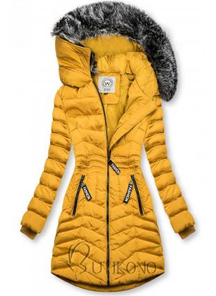 Žlutá zimní bunda FASHION