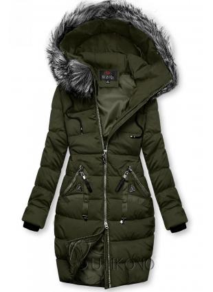Zimní prošívaná bunda khaki