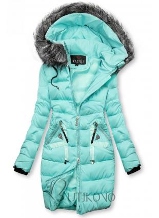 Zimní prošívaná bunda azurová