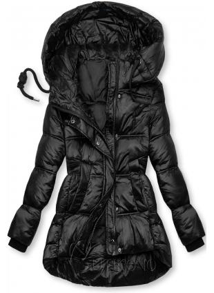 Černá lesklá bunda