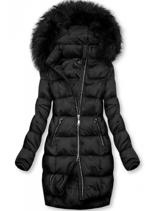 Černá zimní bunda na zip