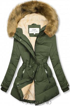 Khaki-béžová zimní bunda