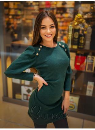 Béžové elegantní šaty v přiléhavém střihu