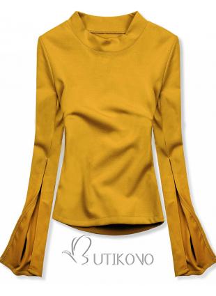 Žlutý top s dlouhými rukávy
