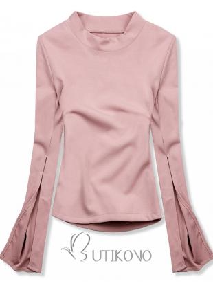 Růžový top s dlouhými rukávy