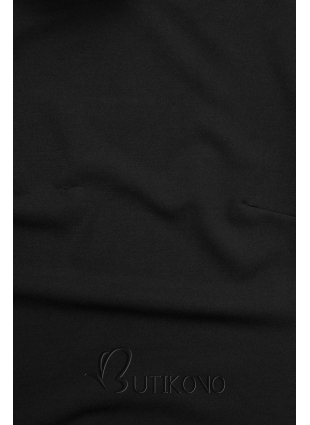 Černý top s dlouhými rukávy