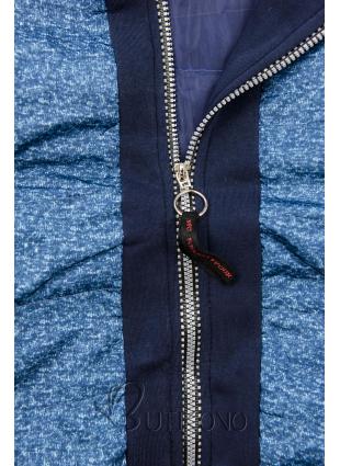 Modrá kombinovaná mikina/bunda