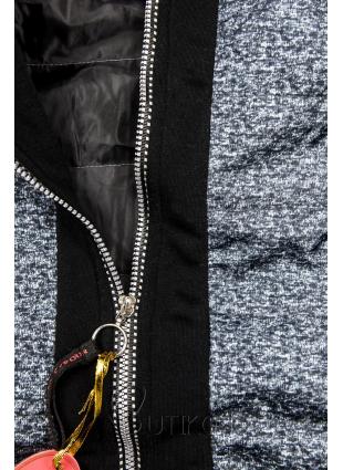 Černá kombinovaná mikina/bunda