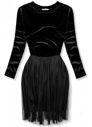 Černé šaty s tylovou sukní