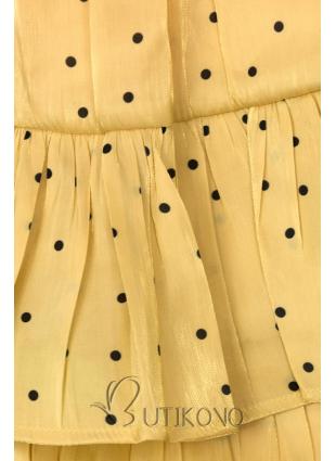 Žlutá tečkovaná sukně