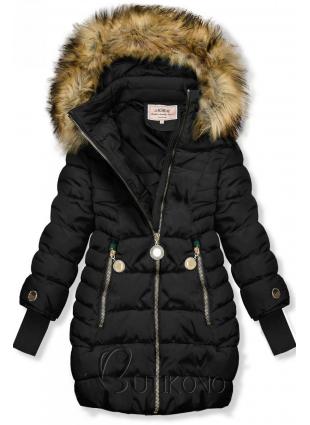 Černá bunda s prodlouženými rukávy