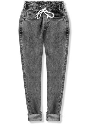 Černé denimové kalhoty