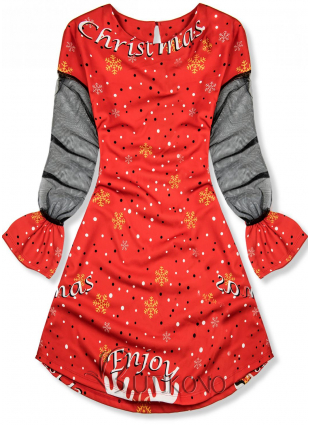 Červené šaty Enjoy Christmas