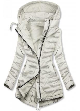 Oboustranná jarní bunda v šedé barvě