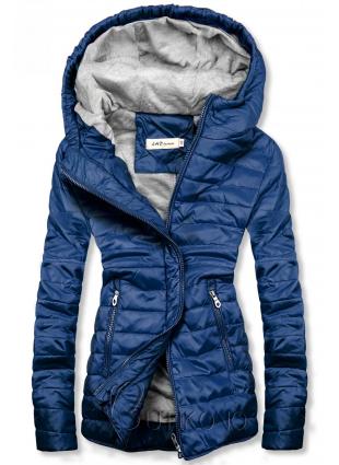 Modrá lehká prošívaná bunda