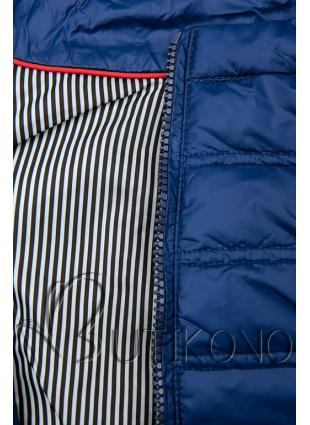 Tmavě modrá krátká prošívaná bunda