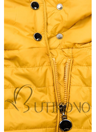 Žlutá prošívaná jarní bunda