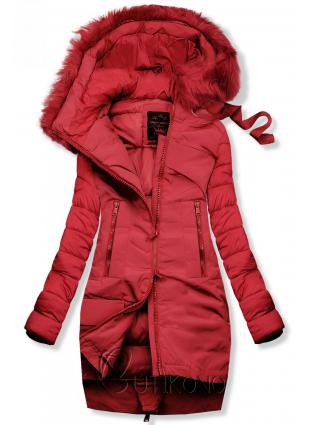 Zimní prošívaná bunda červená