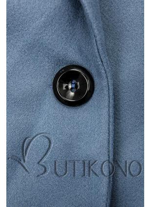 Modrý jarní kabát se zapínáním na knoflík