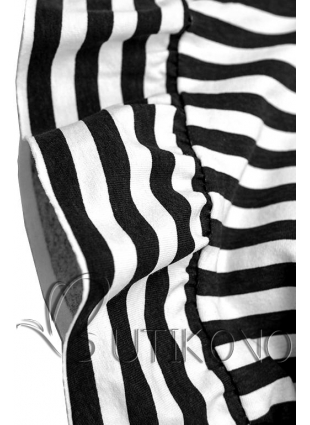 Černobílé volné pruhované šaty II.
