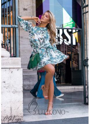 Zeleno-modré květinové šaty Laura/O'la Voga