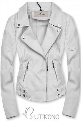 Bílá motorkářská bunda