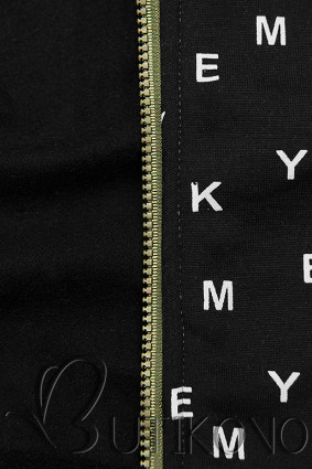 Khaki černá tepláková souprava s potiskem