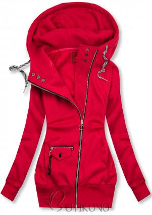 Červená mikina na zip