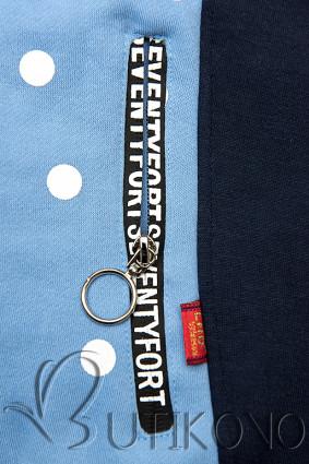 Tečkovaná mikina modrá/tmavě modrá