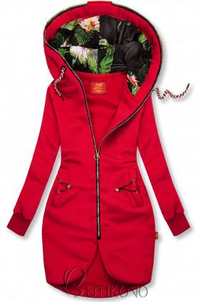 Červená dlouhá mikina