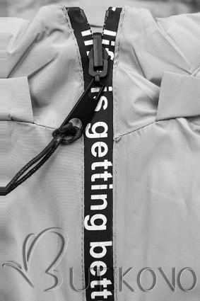 Šedá sportovní oboustranná bunda